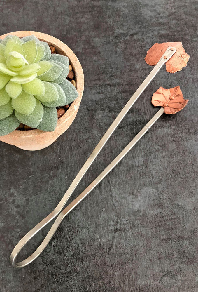 copper tongs, ice tongs