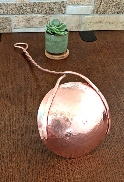 huge copper ladle with copper and German Silver handle