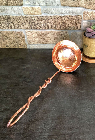 medium copper ladle