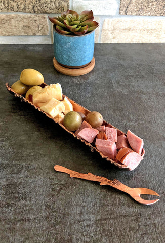 copper tidbit tray