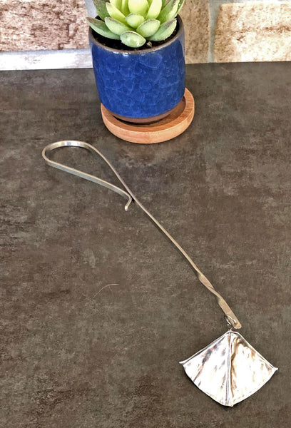 silver candle snuffer with german silver handle