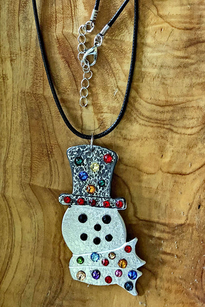 Snowman Ornament Necklace