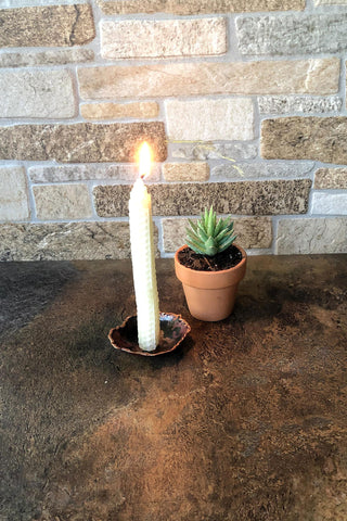 Torch Cut Candle Holder