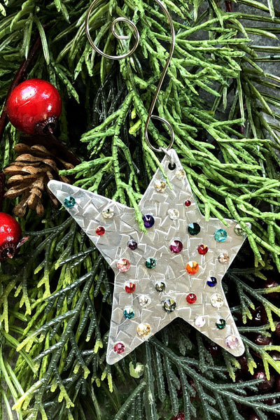 Silver and Crystal Star Ornament