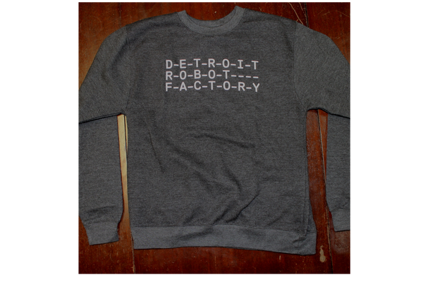 Detroit Robot Factory Crew Neck Sweatshirt