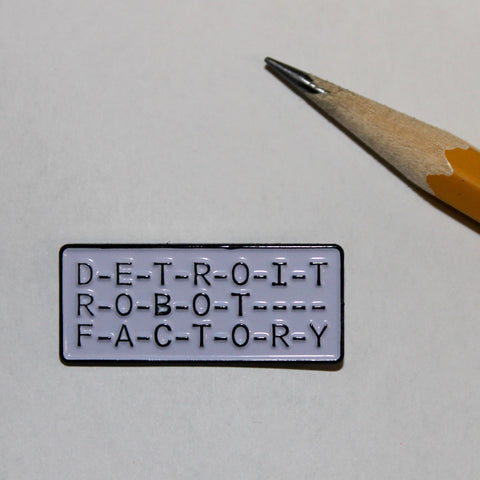 Detroit Robot Factory Logo Lapel Pin