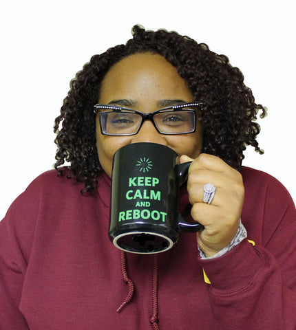 OHM Keep Calm and Reboot XL Mug