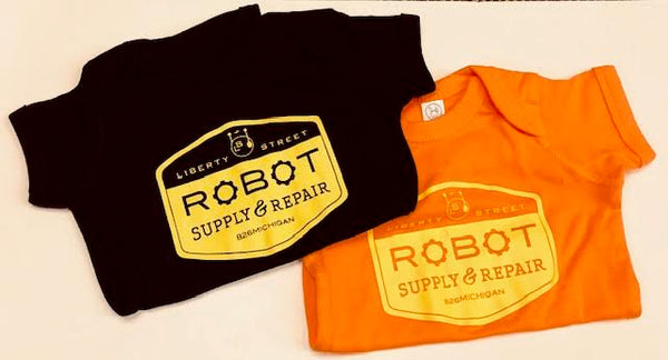 Liberty Street Robot Supply & Repair Logo Onesie - NEW COLORS AVAILABLE.