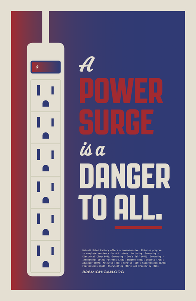 """A Power Surge Is a Danger To All"" Poster"