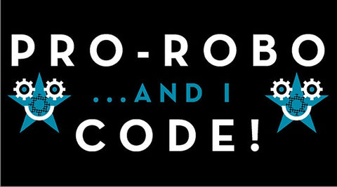 Pro Robo and I Code Sticker