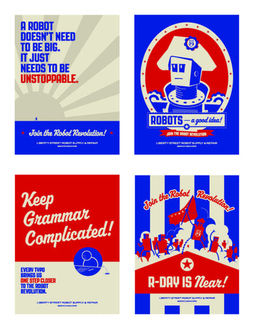 Robot Revolution Poster Set (Set of 4)