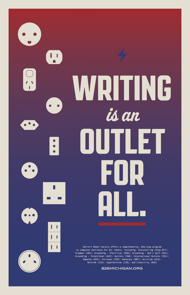 'Writing Is An Outlet For All'  Poster