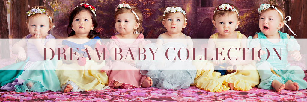 1 year old girls dressed in disney princess inspired dresses by Sew Trendy