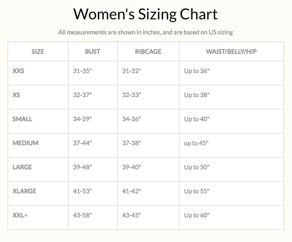 Sew Trendy® Women's Sizing Chart