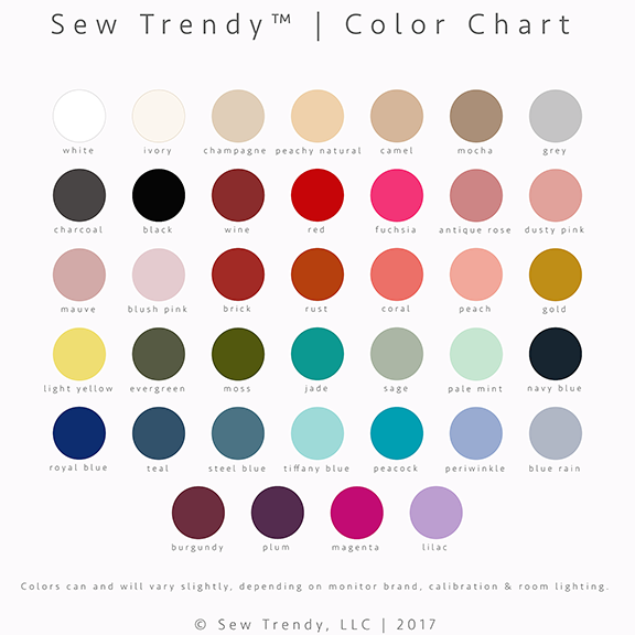 Sew Trendy™ Color Chart