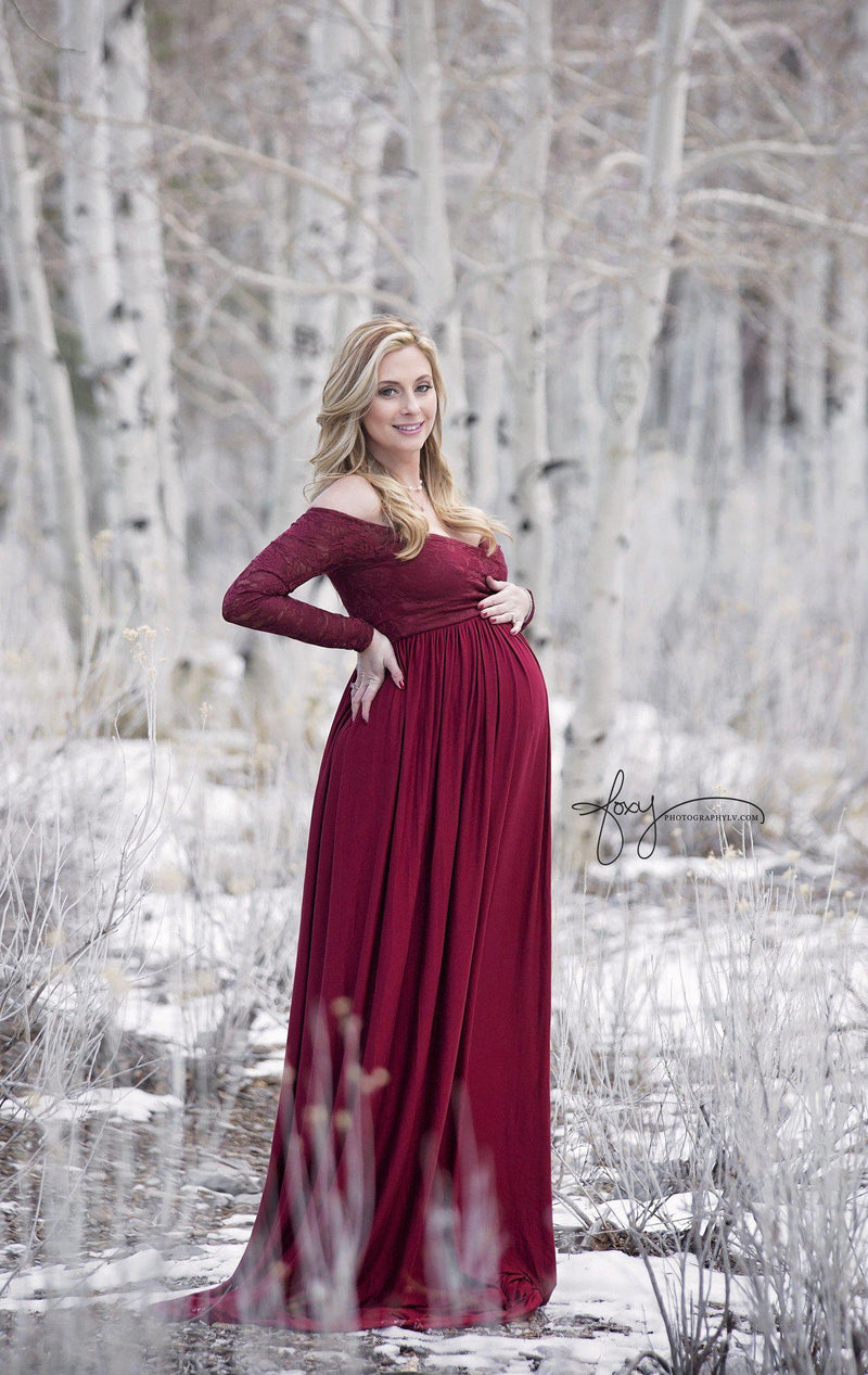 Emma Gown-Maternity Gown-Sew Trendy Accessories