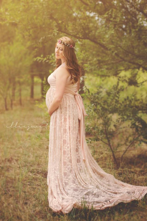 Merinda Gown • Lace Infinity Gown • Lace Maternity Gown • Maternity Dress • Maxi Dress • Senior Photo Shoot • Bridesmaid Dress • by Sew Trendy
