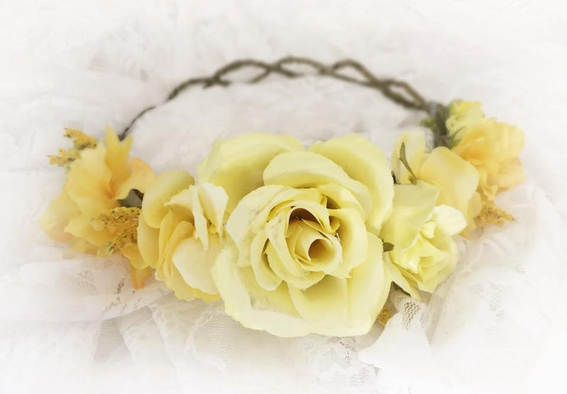 Avery Flower Crown {yellow} | CLEARANCE