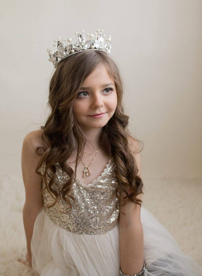 Elsa Crown • Princess Rhinestone Crown • Flower Girl • Photo Prop | READY TO SHIP • by Sew Trendy