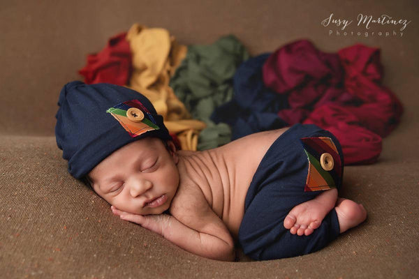 7 PIECE Antique Jewel Toned Newborn Boys Wrap Set {Antique Jewel tones} | READY TO SHIP