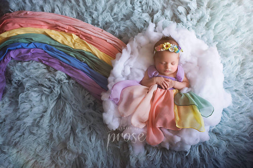 Pastel Toned Newborn Girls 7 PIECE Wrap Set {Pastel tones} • Rainbow Baby Line • Baby Wrap • Photo Prop | READY TO SHIP • by Sew Trendy