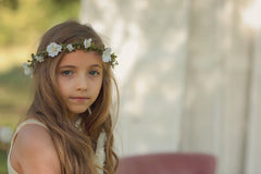 Elliot Pink Floral Crown • Bridal Crown • Bohemian Crown • Simple Flower Halo • Flower Girl • Garden Floral Crown • Foliage | Ready To Ship • by Sew Trendy
