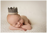Christian Baby Boy Crown • Burlap Crown • Newborn Photo Prop | READY TO SHIP • by Sew Trendy