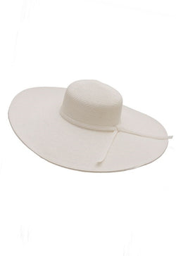 White Wide Brim Sun Hat