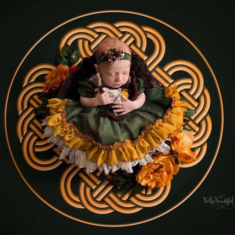 Mera Princess Dress • Merida Inspired-newborn dress-Sew Trendy Accessories
