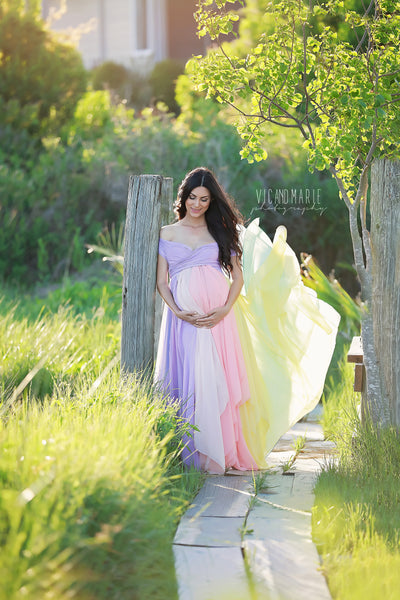 Miracle Gown Pastel Tones Sew Trendy Maternity Gown