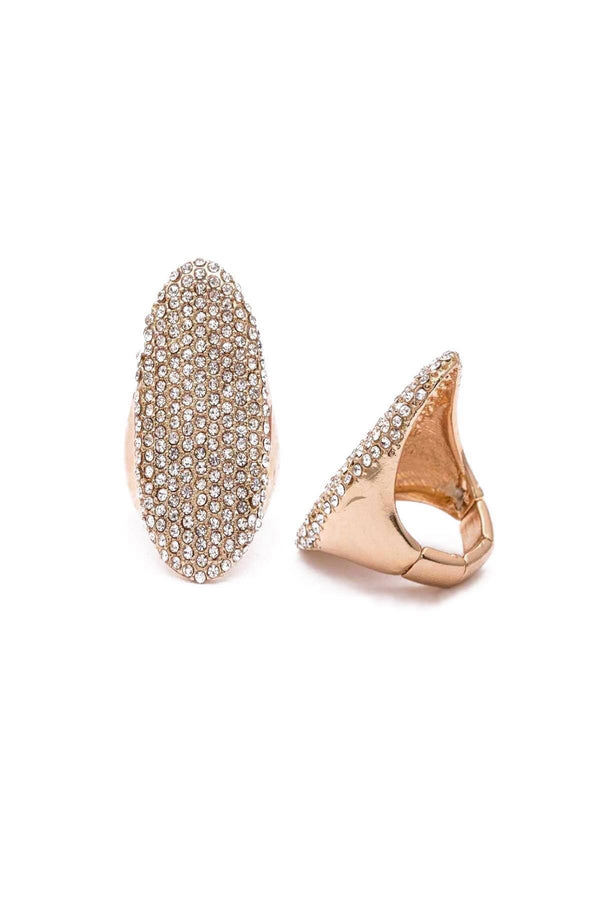 Gold Pavé Statement Ring