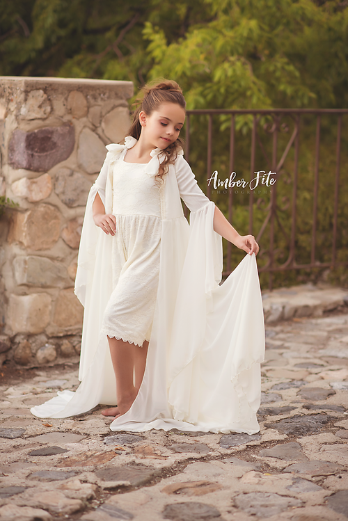 Laura Robe • Renaissance Style Robe • Girls Robe • Chiffon Robe • by Sew Trendy
