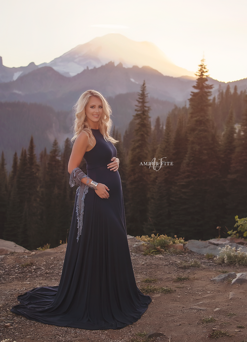 Cherie Gown-Maternity Gown-Sew Trendy Accessories