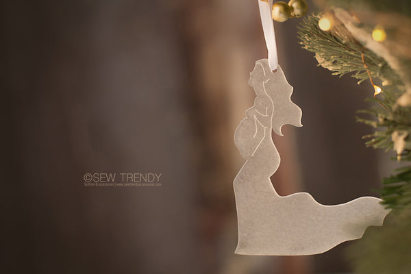 Maternity Christmas Ornament • Anxiously Awaiting