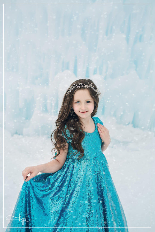 Brighton Gown in Sequin-girls dresses-Sew Trendy Accessories