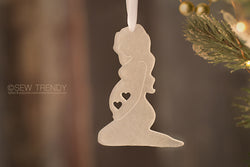 Maternity Christmas Ornament • Can't Wait To Hold You TWO