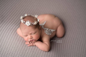 Cielle Rhinestone Baby Angel Wings