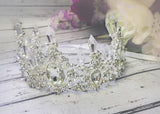 Ravenna Princess Rhinestone Crown • Newborn Crown • Photo Prop • Silver | Ready To Ship