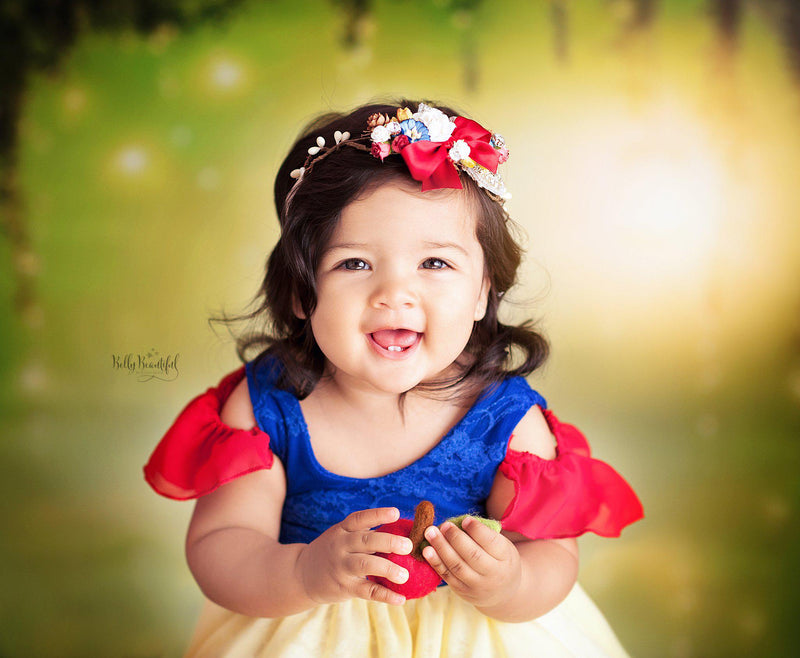 Snow Princess Dress • Snow White Inspired-newborn dress-Sew Trendy Accessories