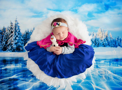 Anka Princess Dress • Frozen Inspired-newborn dress-Sew Trendy Accessories