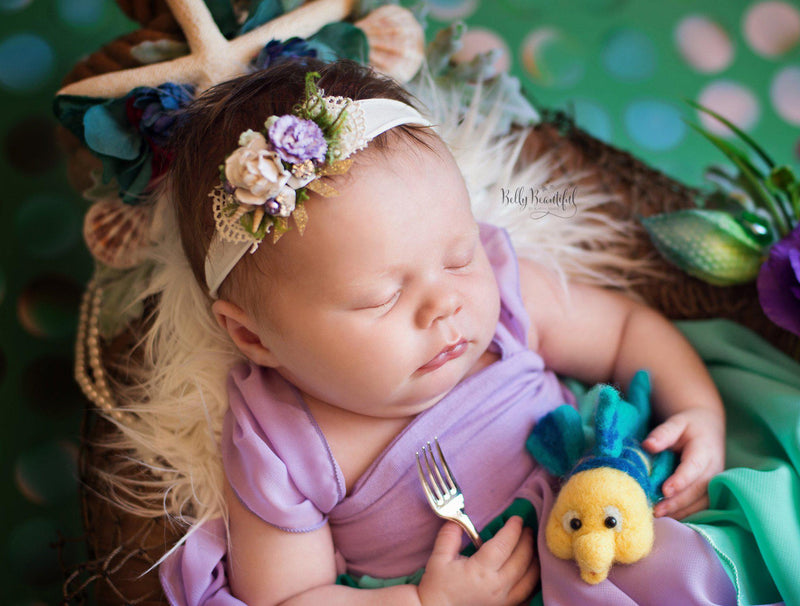 Rielle Princess Dress • The Little Mermaid Inspired-newborn dress-Sew Trendy Accessories