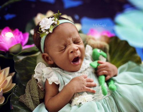 Taiya Princess Dress • Princess and the Frog Inspired-newborn dress-Sew Trendy Accessories
