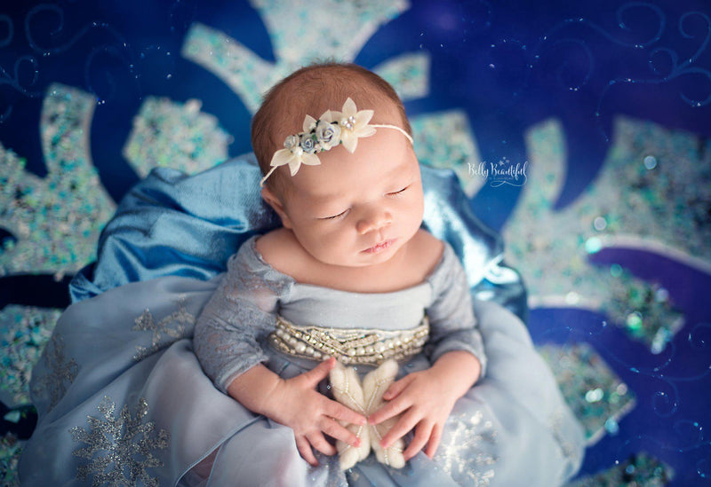Ilma Princess Dress • Elsa Frozen Inspired-newborn dress-Sew Trendy Accessories