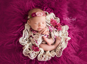 Floral Newborn Wrap {taupe floral} | Ready To Ship