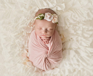 Newborn Ruffle Blanket | Ready To Ship