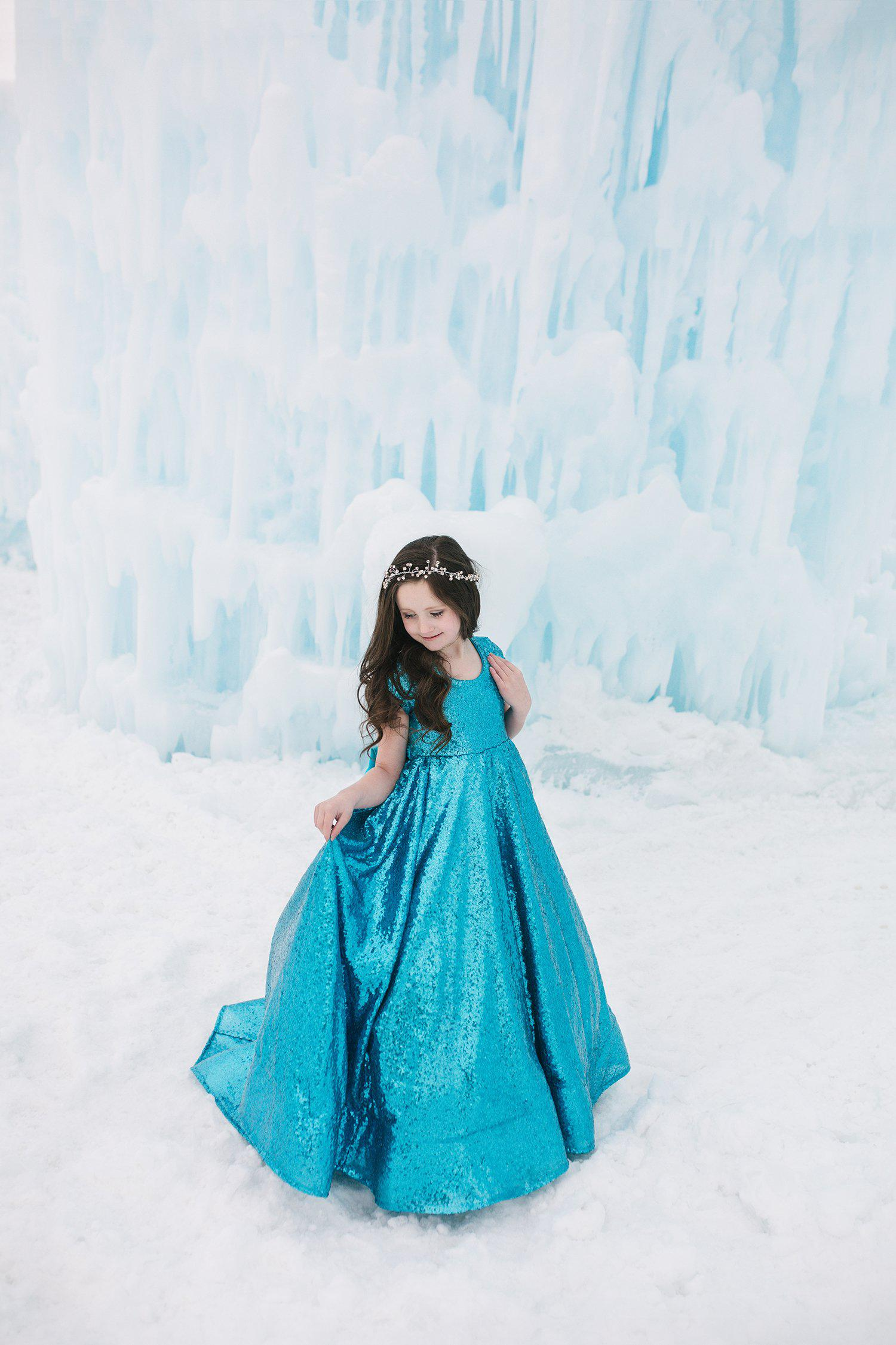 109a63d2a46 Brighton Gown in Sequin-girls dresses-Sew Trendy Accessories
