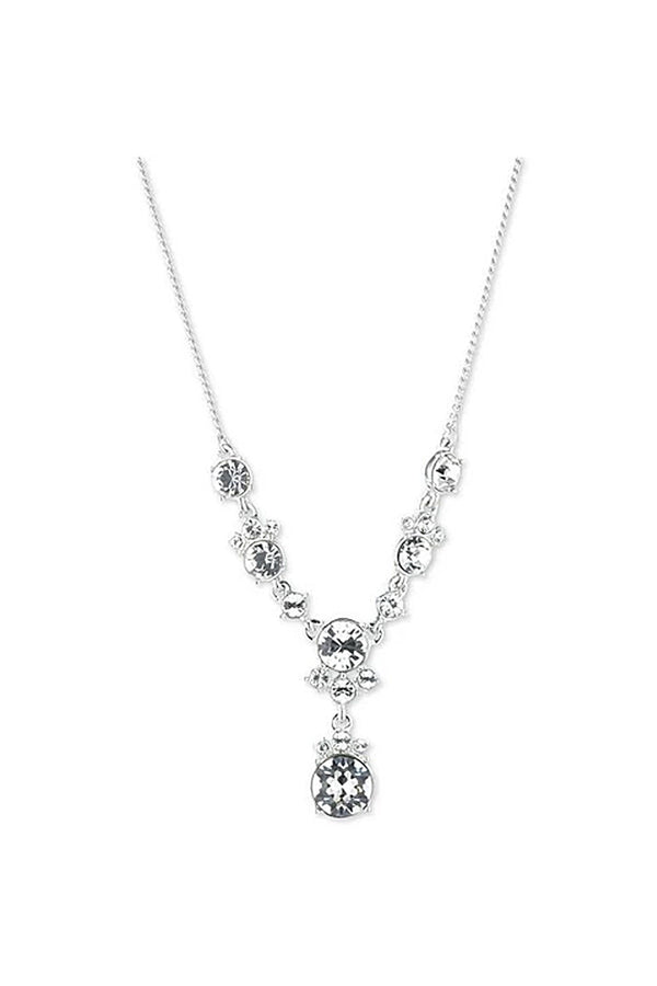 Givenchy Lariat Silver Tone Necklace