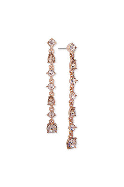 Givenchy Rose Gold Linear Drop Earrings