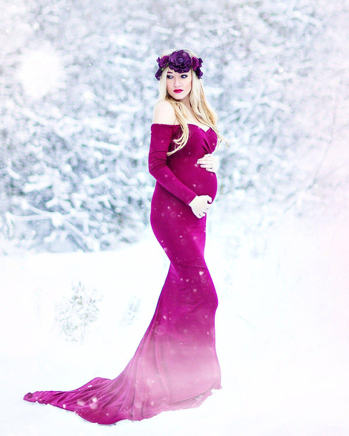 c0eac9f0ceb Emerlie Gown-Maternity Gown-Sew Trendy Accessories