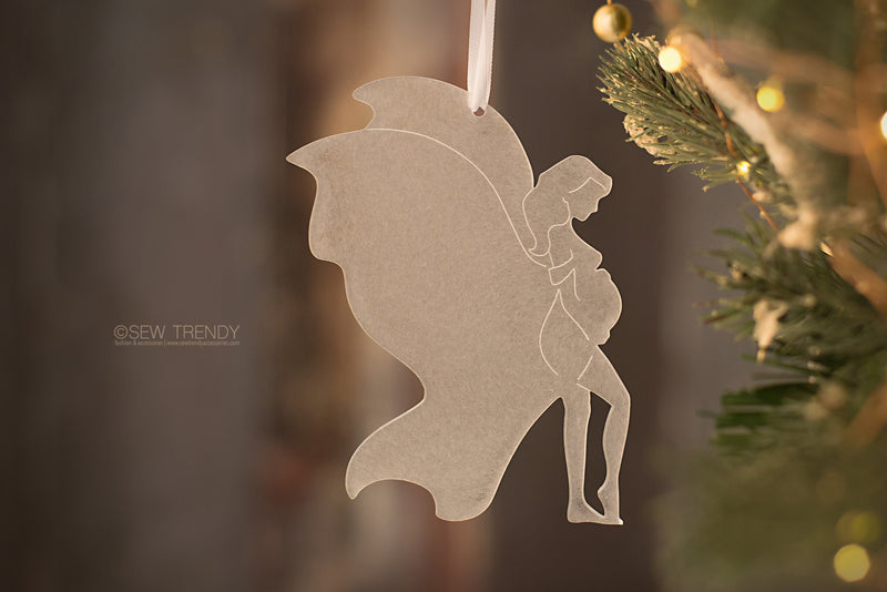 Maternity Christmas Ornament • Butterfly Mama